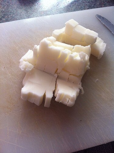 Lard cut into cubes