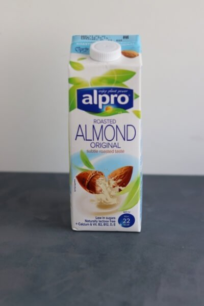 Carton of almond milk