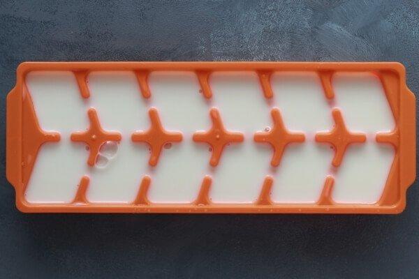 Almond milk in cubes