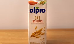 Alpro oat milk container