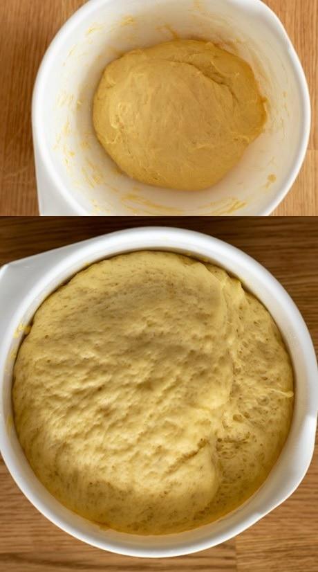 Another dough from frozen yeast