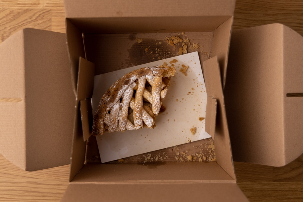 Apple pie in a carton