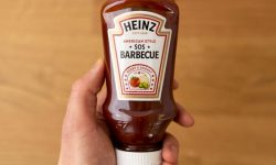 BBQ sauce in hand