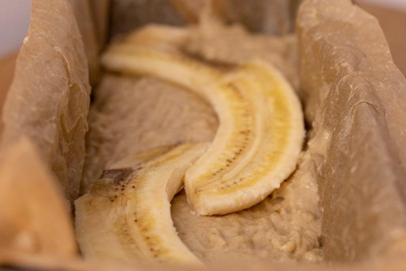 Banana on top of banana bread