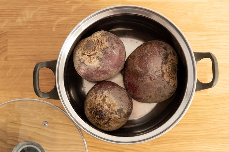 Beets in a pot