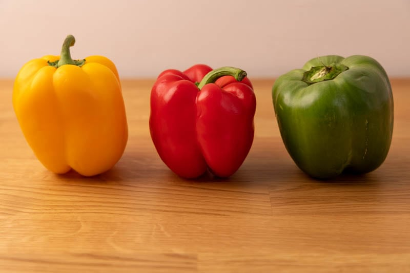 Bell peppers side by side
