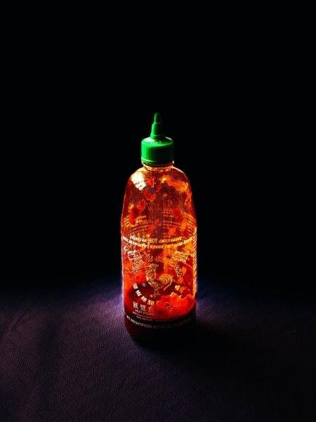 Bottle of Hu Fong Foods Sriracha