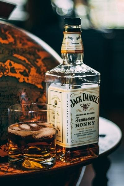 Bottle of Jack Daniels whiskey