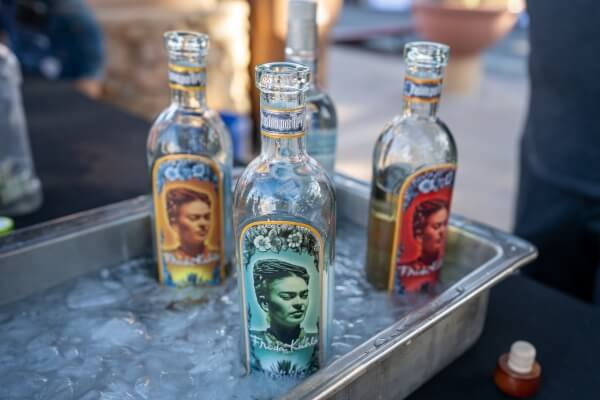 Tequila, distilled from blue agave plant