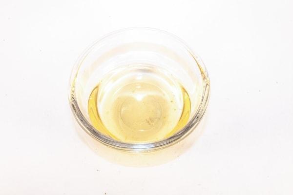 Rice vinegar in a glass bowl