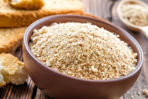 Breadcrumbs in a bowl