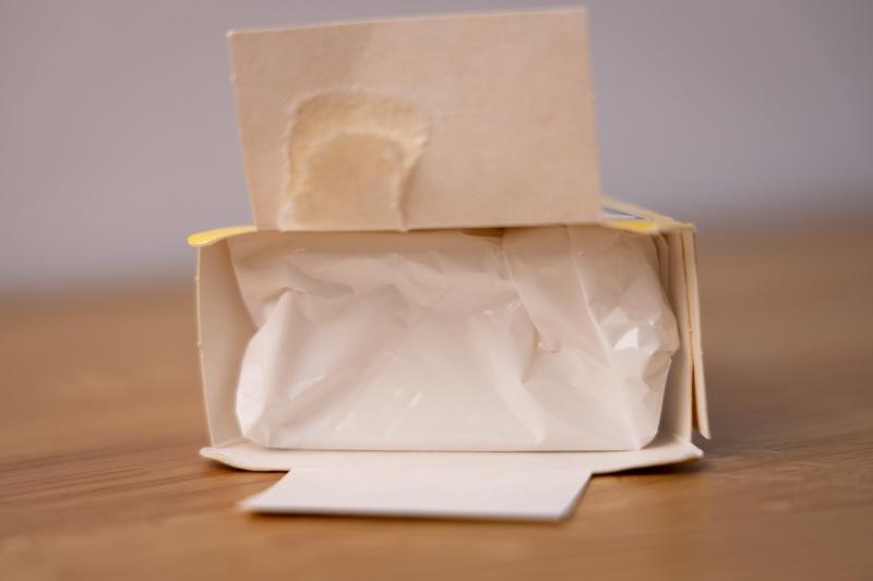 Brie back in original packaging