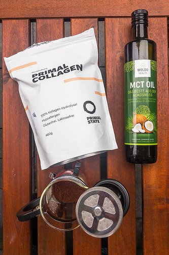 Coffee and mct oil