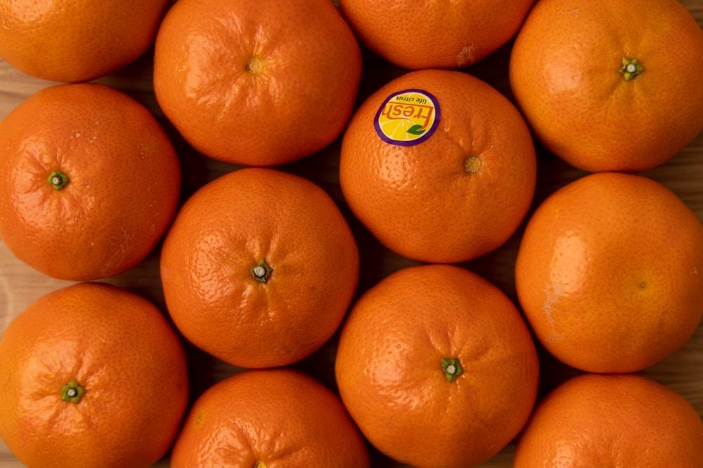 Bunch of tangerines