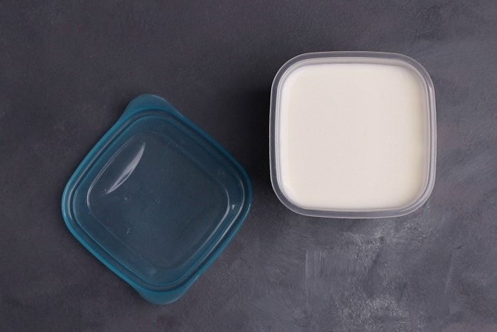 Buttermilk in a container