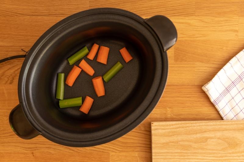Carrots ready for bone broth