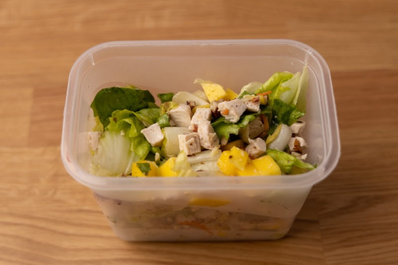 Chicken salad in an airtight container