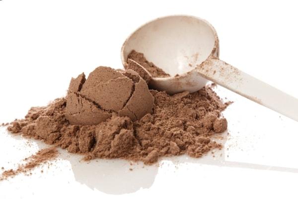 Chocolate-flavored protein powder