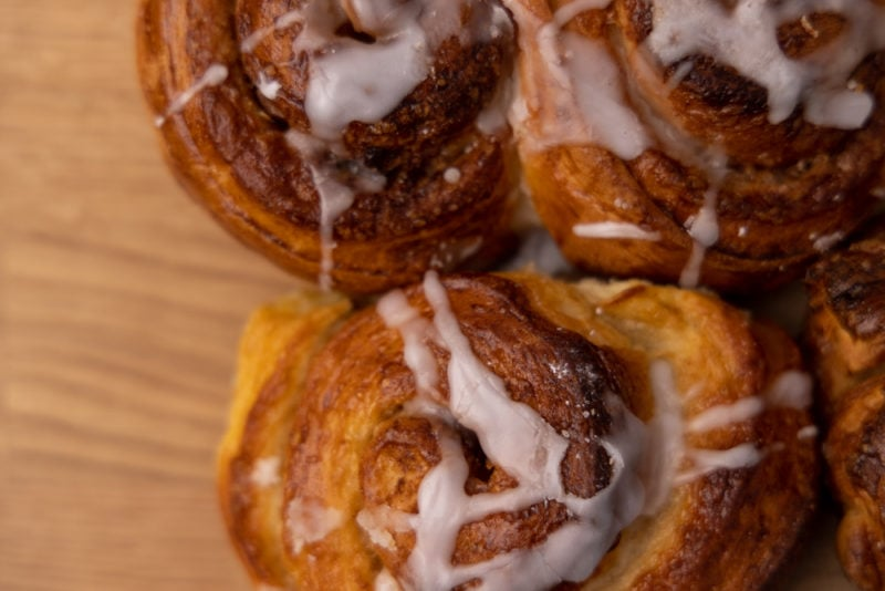 Cinnamon buns from above
