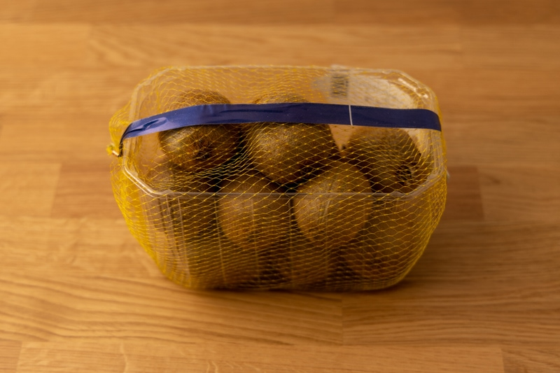 Container of kiwis