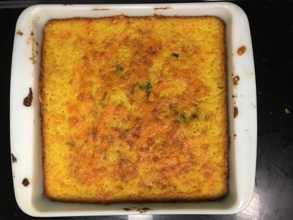 Cornbread with green chili and cheese