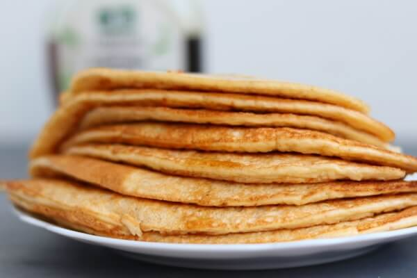Pancakes made with thawed cottage cheese