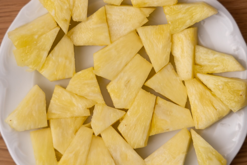 Cut up pineapple