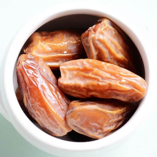 Dates in a cup