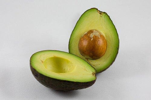 Hass avocado halved
