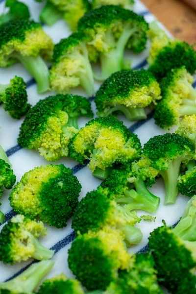 Drying broccoli