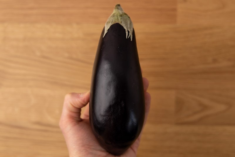 Eggplant in hand