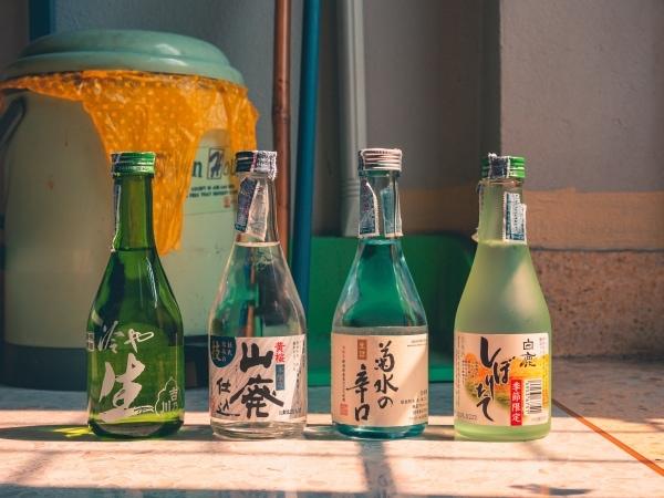 Four bottles of sake