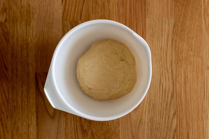 Fresh yeast dough before rising