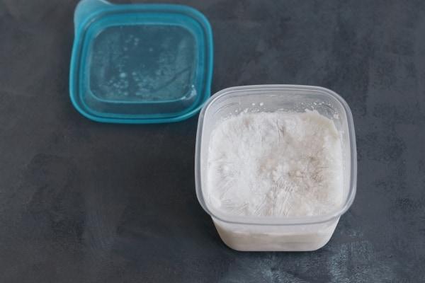 Frozen coconut milk