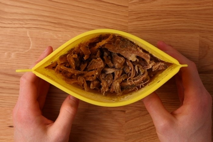 Frozen pulled pork