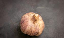 A whole garlic bulb