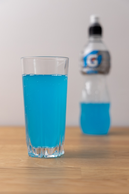 Gatorade in glass