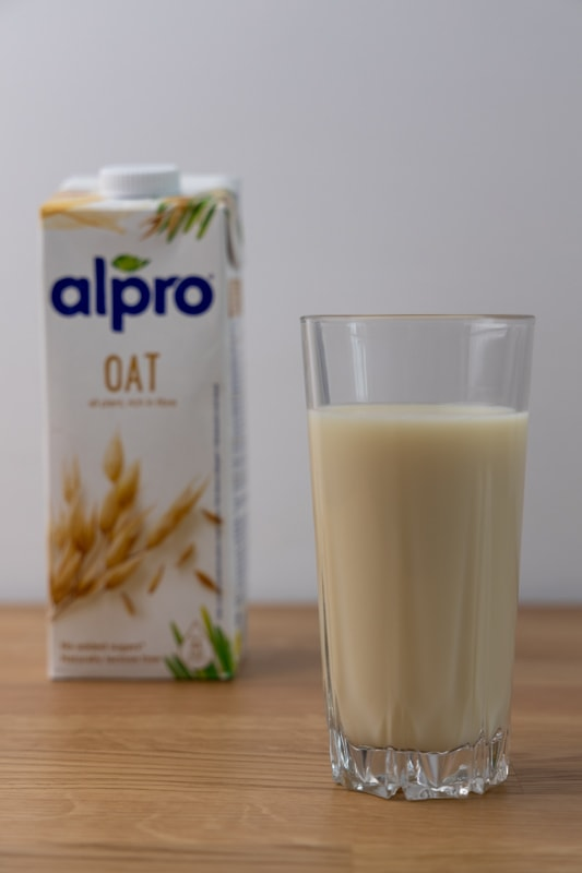Glass of oat milk