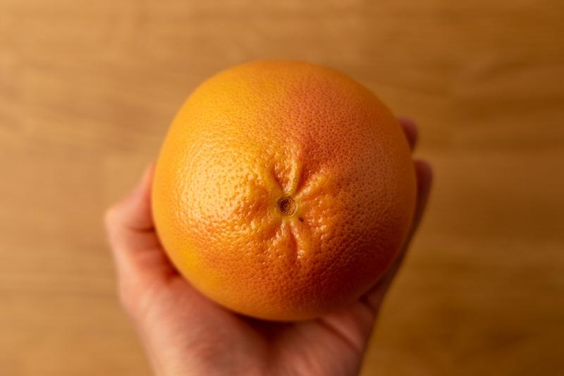 Grapefruit in hand