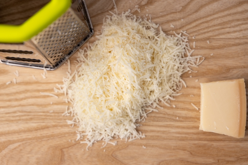 Grated parmesan and leftover wedge