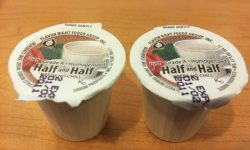 Half and half tiny cups