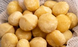 Macadamia nuts closeup