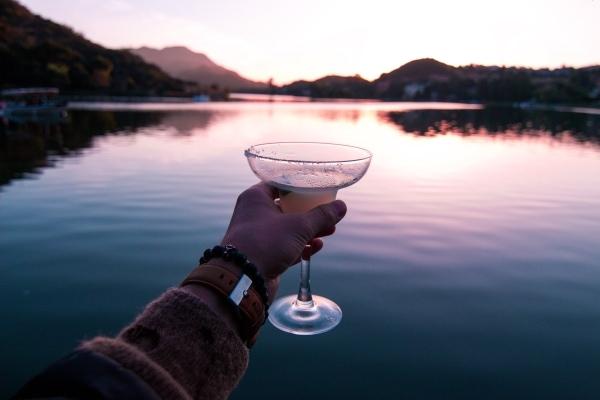 Margarita on the lake