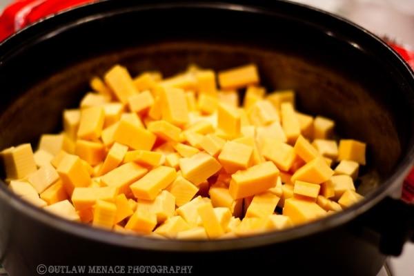 Melting cheese for dinner