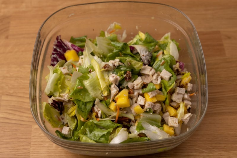 Chicken salad just mixed