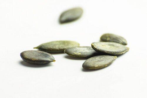 Pumpkin seeds on a table