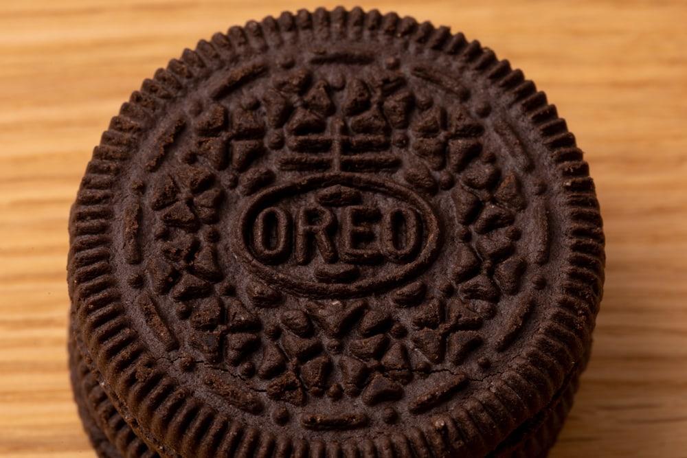 Oreo cookie closeup