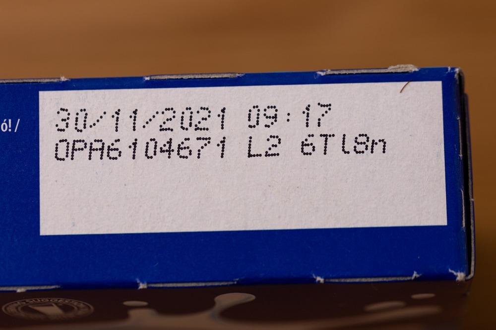 Oreos: date on label