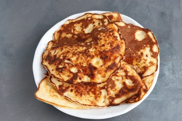 Pancakes made with thawed ricotta