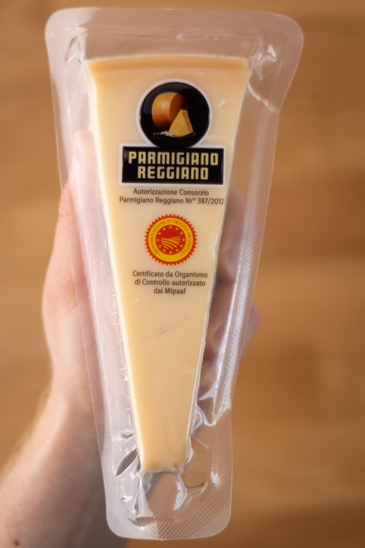 Parmesan in hand